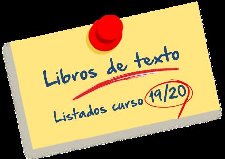 Libros de texto curso 2019 2020